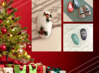 クリスマスネイルの簡単アートのやり方|ジェルネイル初心者向けアート特集