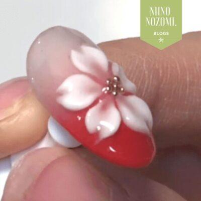 エンボス(3D)アートの工程|桜の花びらを作るやり方