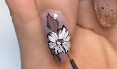 牡丹の花|和風ネイルのやり方