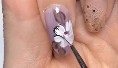 「牡丹の花」浴衣ネイルのやり方