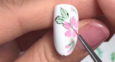 桜のペイントアートのやり方ポイント